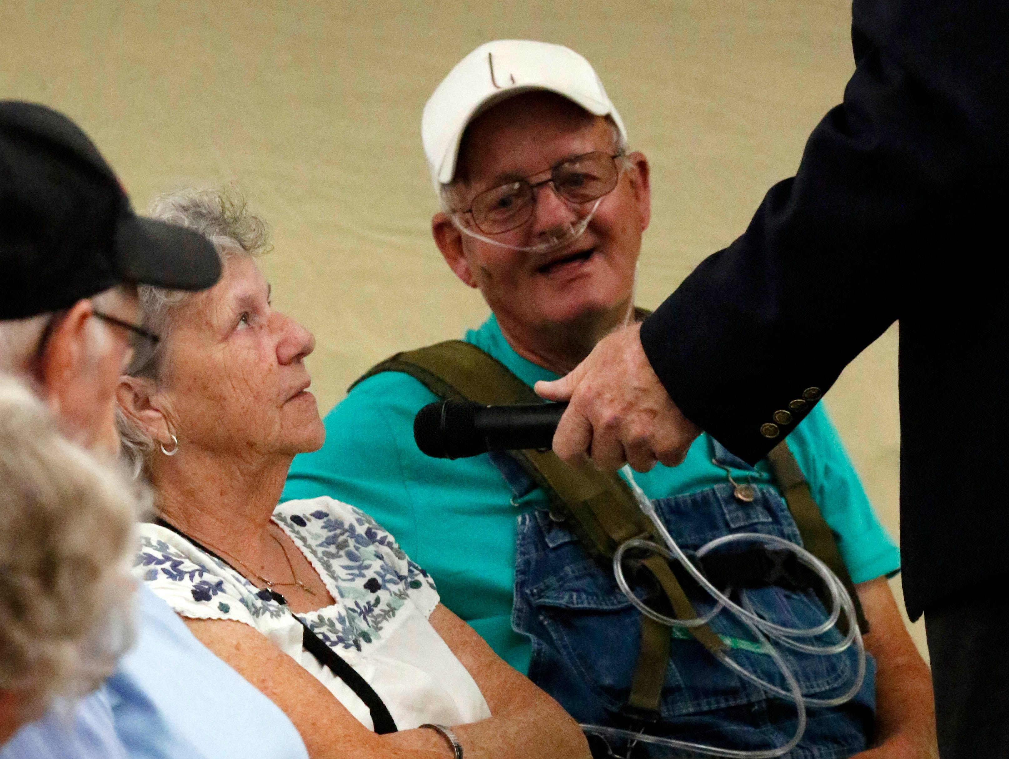 Couple married for 50 years or longer were honored during a live radio broadcast Wednesday, Oct. 11, 2018, at the Fairfield County Fair in Lancaster.