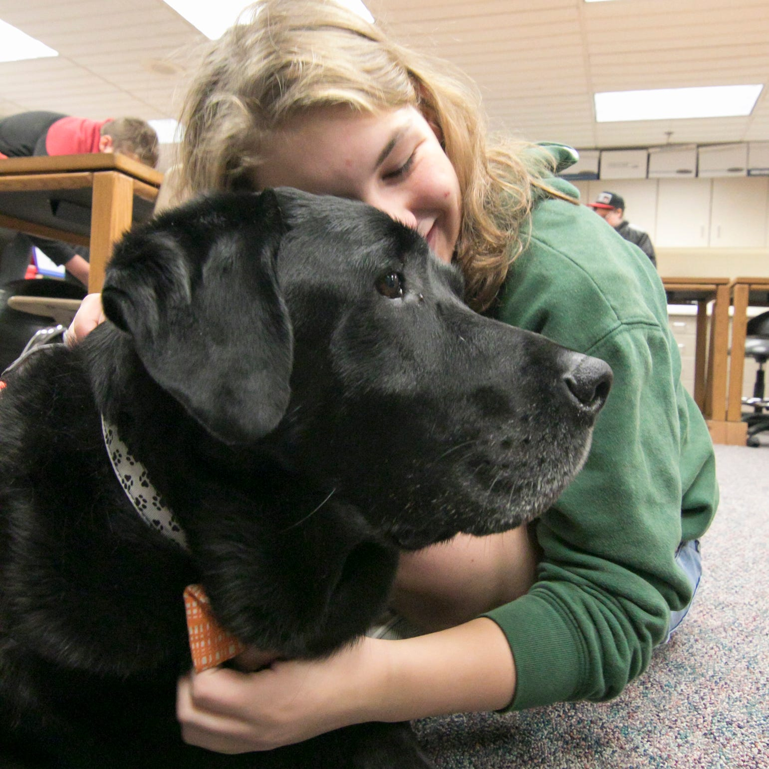 After nearly 10-year effort, Brighton schools plan to have therapy dogs in every building by spring