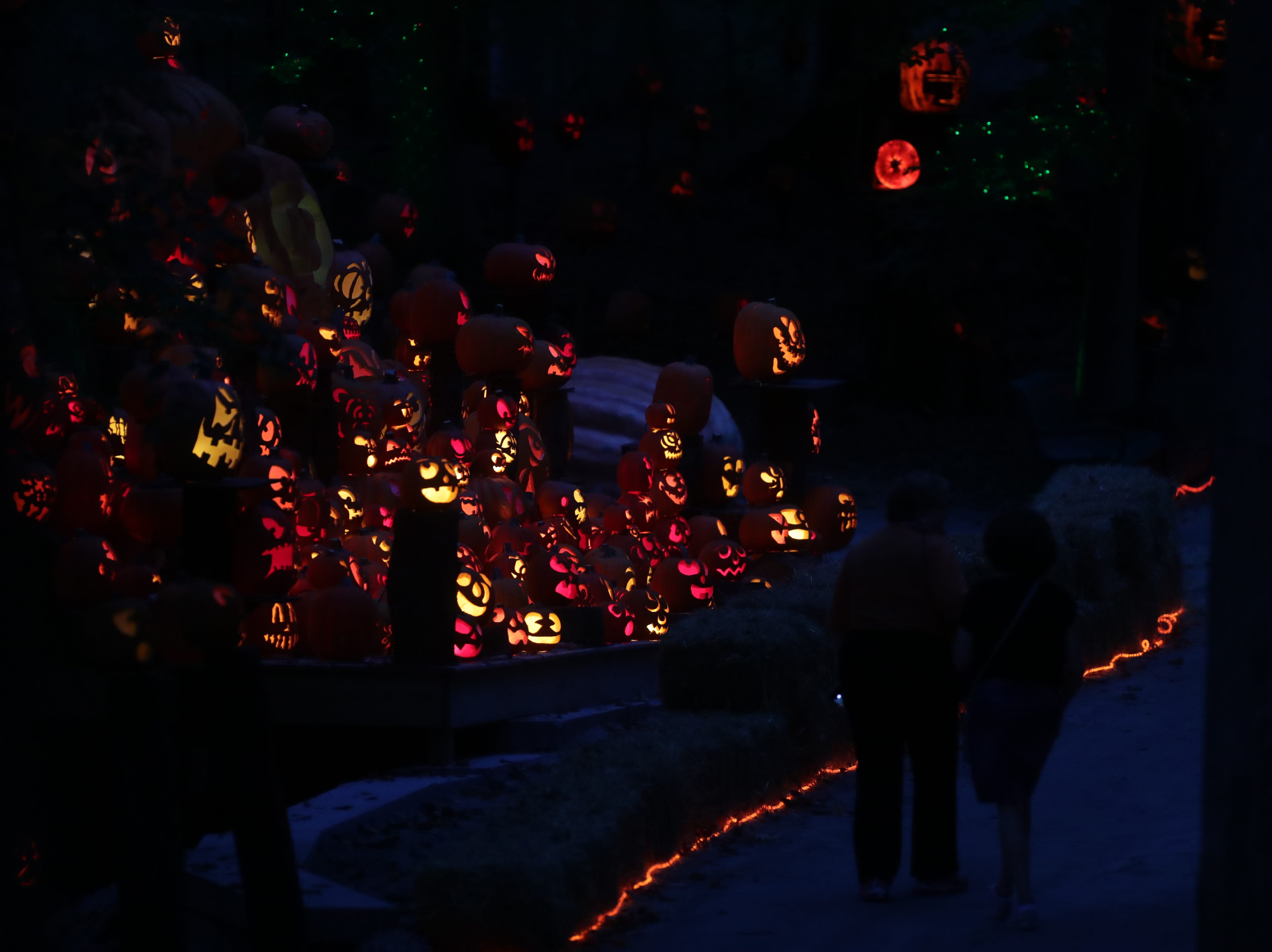Scenes for the Jack O' Lantern Spectacular.