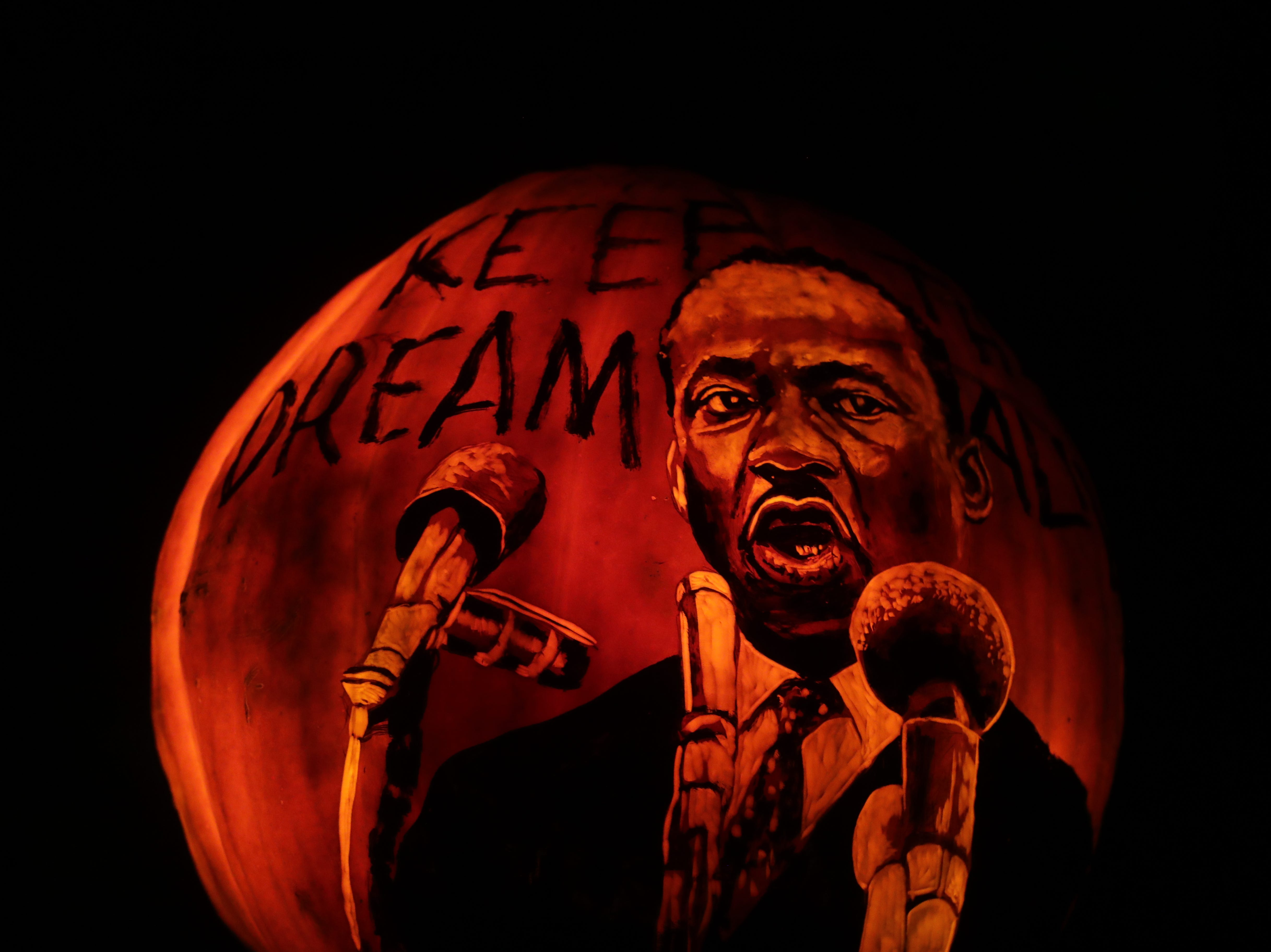 MLK Jr. appears on a pumpkin at this year's Jack O' Lantern Spectacular. Oct. 9, 2018