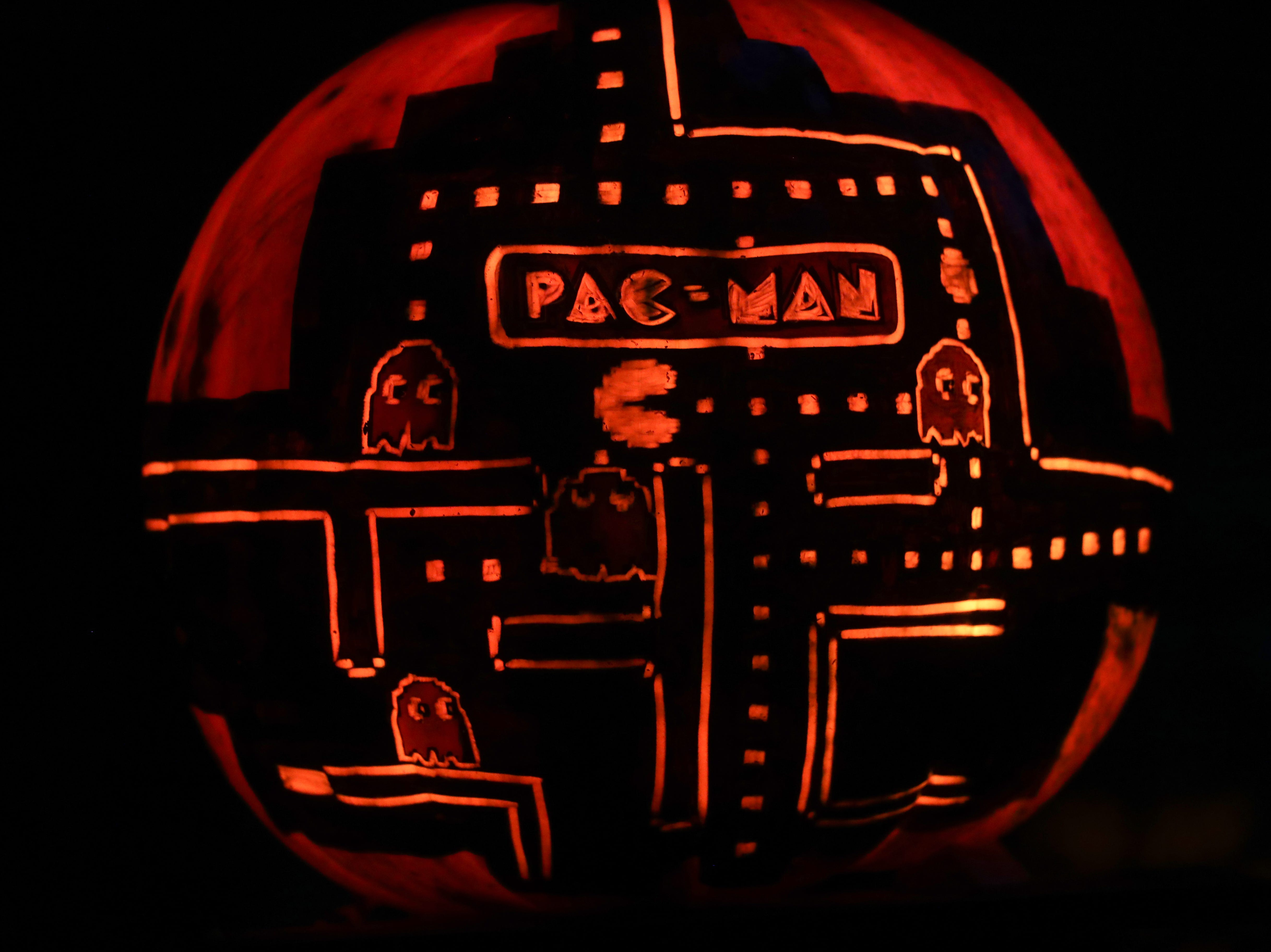 Pac Man appears on a pumpkin at this year's Jack O' Lantern Spectacular. Oct. 9, 2018