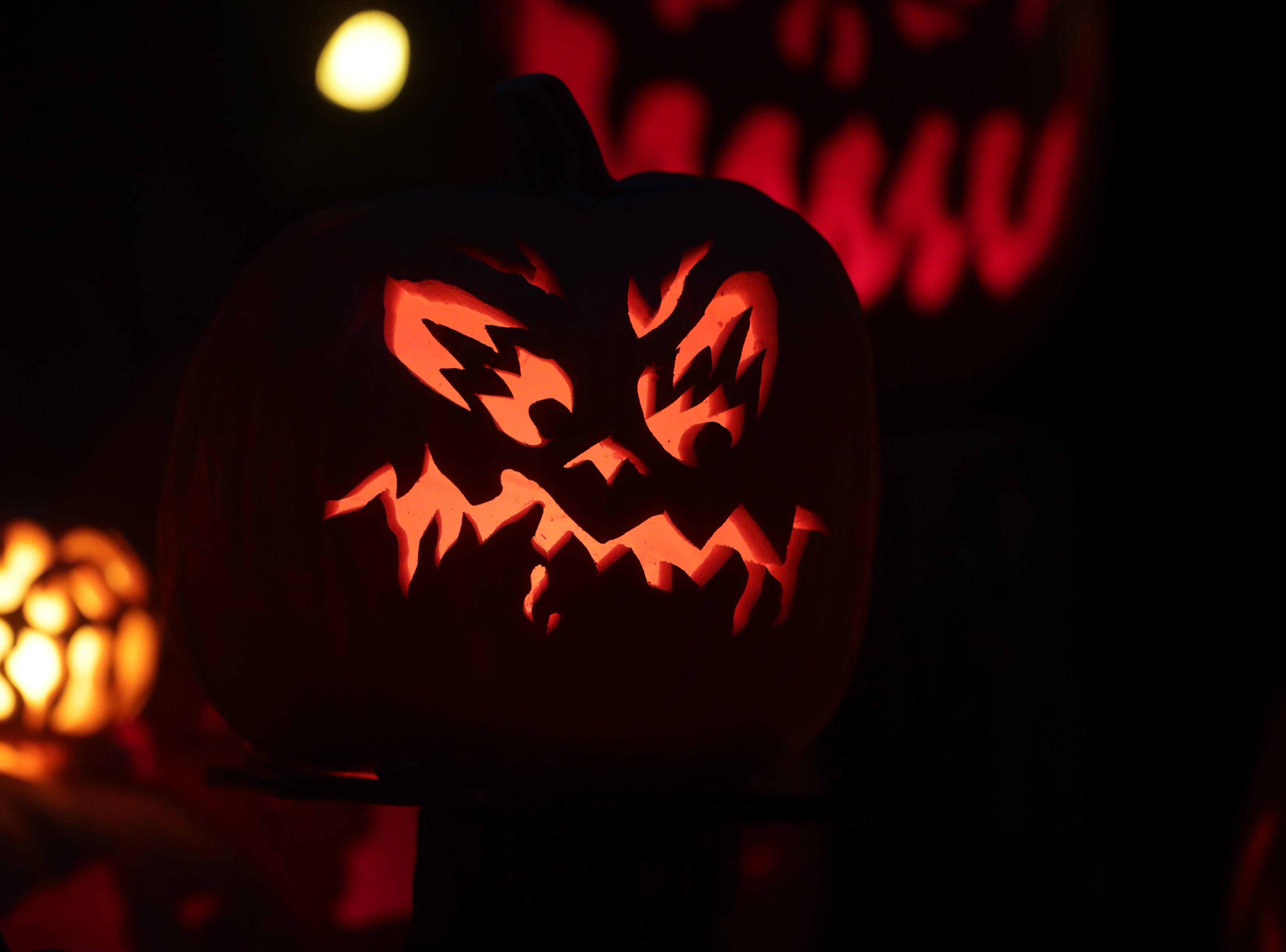 One of the decorative pumpkins at this year's Jack O' Lantern Spectacular.