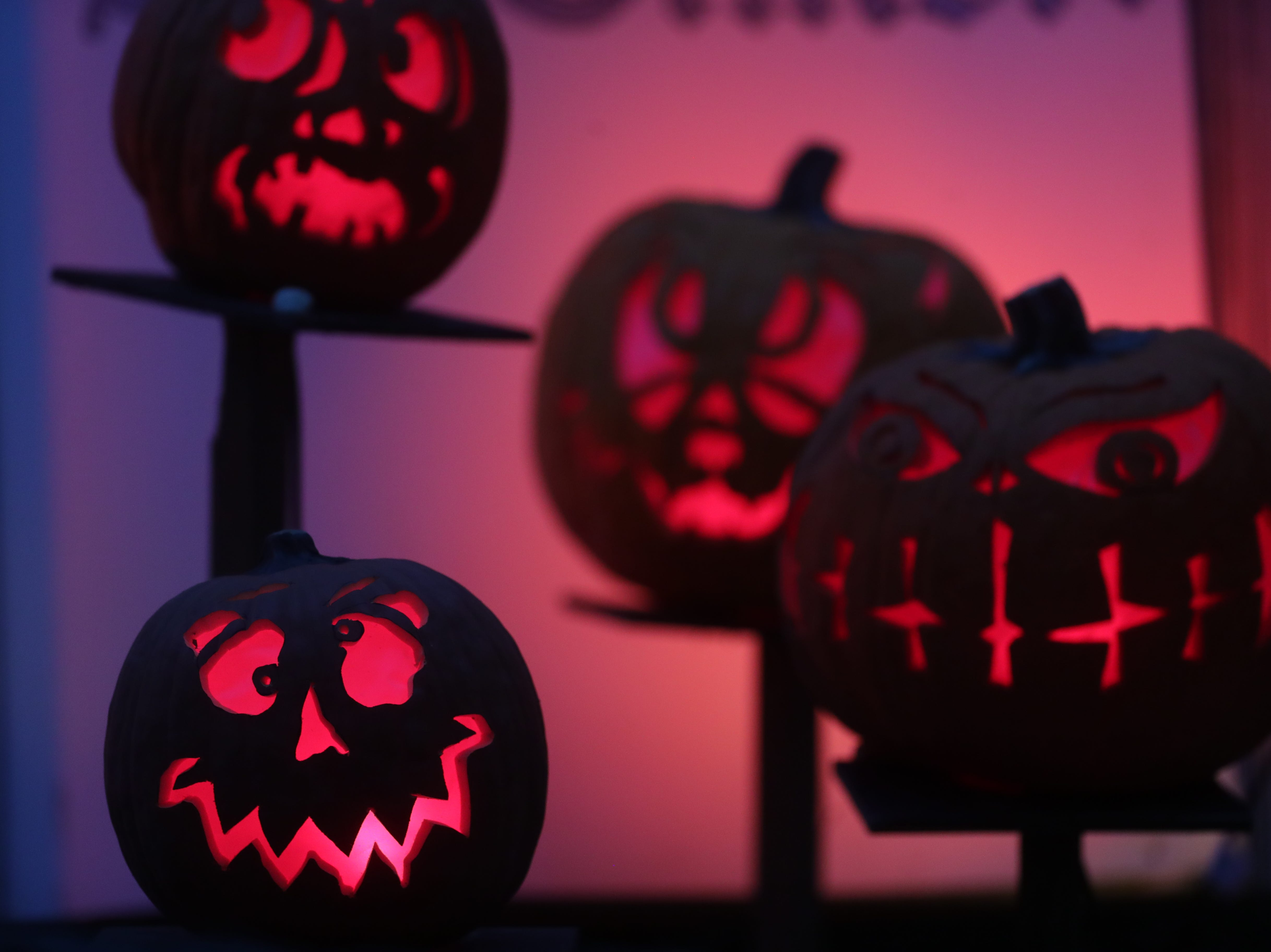 A few of the decorative pumpkins at this year's Jack O' Lantern Spectacular.