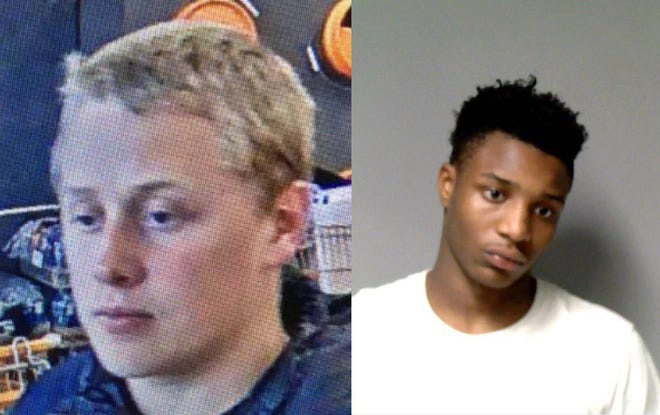 Corey Michael Stewart (left) and Laprece Mar'Quel Stitt-Nathan were both charged in connection with multiple business break-ins.