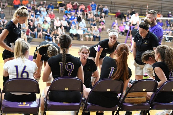 The Lexington Lady Lex volleyball team won the Ohio Cardinal Conference championship last week in a five-set thrilling win over Ashland.