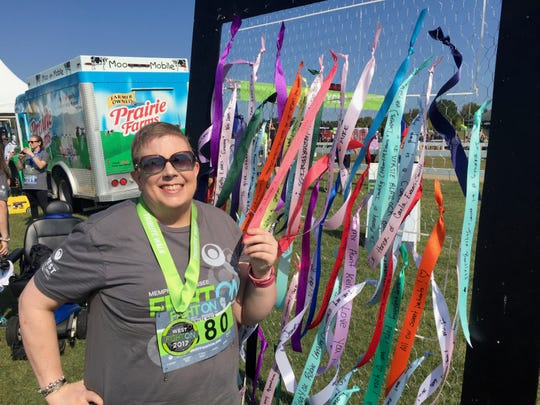 Keesha at the FightOn Walk for West Cancer Center at Shelby Farms in October 2017.