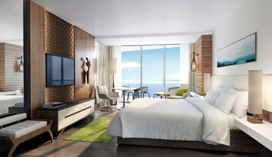 Lanai guestroom.