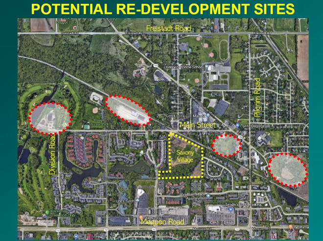 The areas circled in red would be considered in connectivity planning.