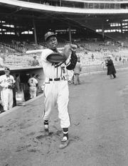 "Henry ""Hank"" Aaron was a star for the Milwaukee Braves."