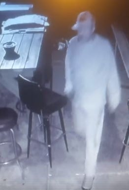 A burglar is seen on surveillance video in an attempted breakin at Tommy Amann's Bar, 88th and Becher streets. Anyone providing information leading to his arrest will get a $200 bar tab from the owner.