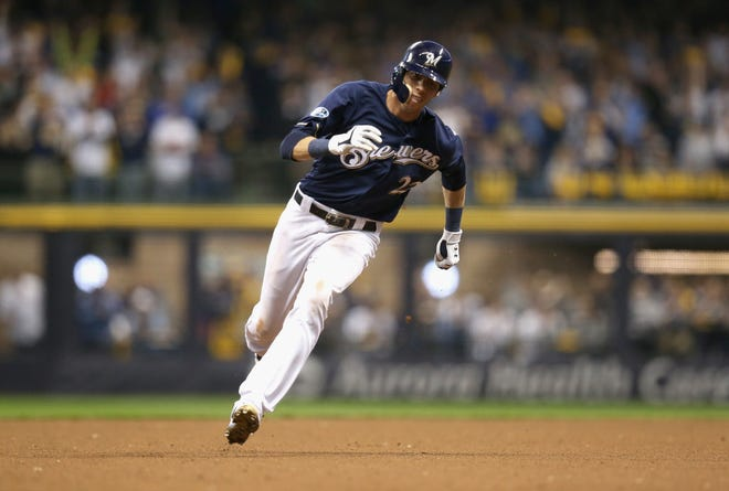 Christian Yelich and his Brewers teammates are headed to the National League Championship Series.