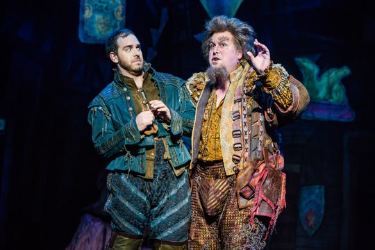 "Matthew Janisse, left, gives Greg Kalafatas a little side eye in ""Something Rotten!"" The national touring company performs Tuesday through Oct. 28 at the Fox Cities PAC."