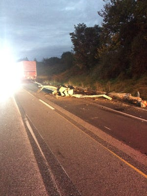 I-69 was closed Wednesday because of a crash in the construction zone.