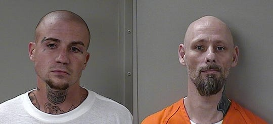 Jonathan Cody Baxter, left, and Dewayne Lee Halfacre