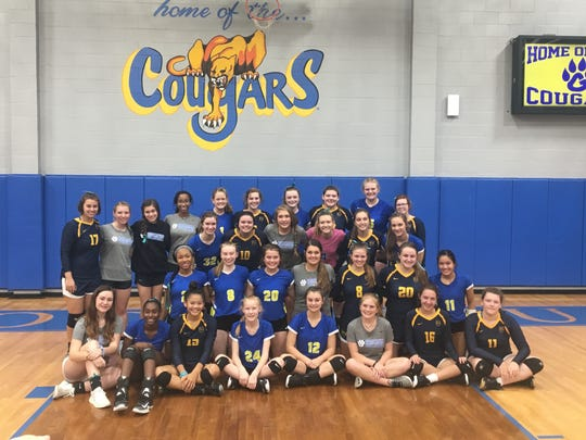 Players from Goodpasture and Providence Christian all wore teal ribbons Monday to honor Tracy McCauley, the mother of PCA freshman Marley McCauley.