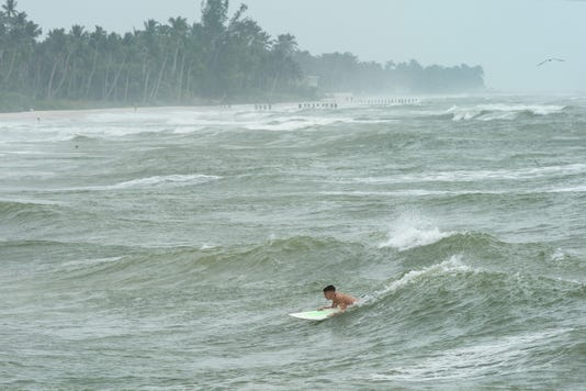 High Water On Naples Beach