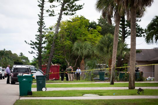 The Collier County Sheriff's Office conducts a death investigation on Tuesday, Oct. 9, 2018, in the 700 block of 102nd Avenue North in Naples Park.