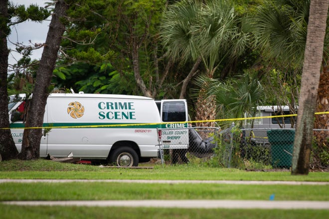 The Collier County Sheriff's Office clears the scene of a death investigation Tuesday, October 9, 2018, in the 700 block of 102nd Avenue North in Naples Park. The Sheriff's Office considers the death suspicious.