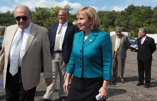 North Arlington Mayor Joseph Bianchi with Lt. Gov. Kim Guadagno September 2016.