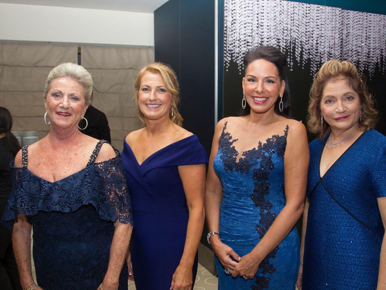 Pam Simunovich, Colleen Sparta, Inez Inserra, Laura Garrett. Hackensack University Medical Center Foundation held its 25th anniversary Recognition Gala at Rockefeller Center, NY. 10/06/2018