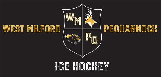The new banner for the combined West Milford and Pequannock High School ice hockey team.