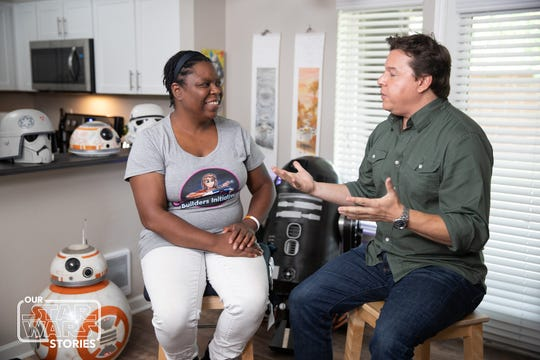 'Our Star Wars Stories,' is a new digital series hosted by Ridgewood's Jordan Hembrough (right) that tells stories about the incredible ways that 'Star Wars' has impacted the lives of fans everywhere.