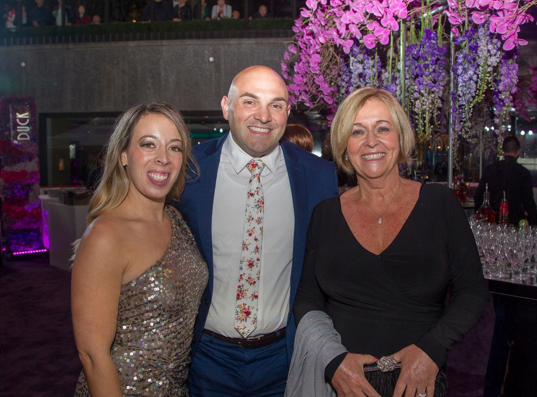 Shannon Kozieroda, Joe and Mary Promoenski. Hackensack University Medical Center Foundation held its 25th anniversary Recognition Gala at Rockefeller Center, NY. 10/06/2018