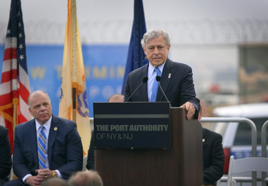 Executive Director of the Port Authority Rick Cotton speaks during a press conference prior to the groundbreaking ceremony at the site of new Terminal One in Newark Liberty International Airport on 10/10/18.
