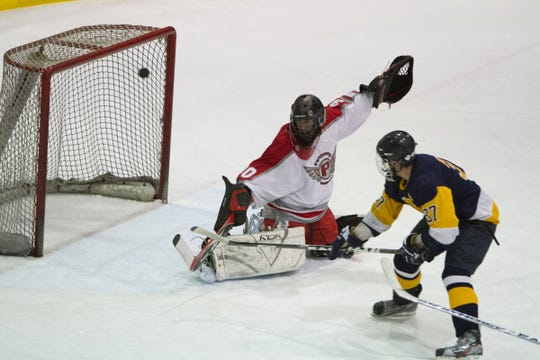 Parsippany Hills falls to Pequannock 7-2 in ice hockey Dec. 16, 2011. PHS goalie Ray Lennie stopped 24 of 31 shots on goal.