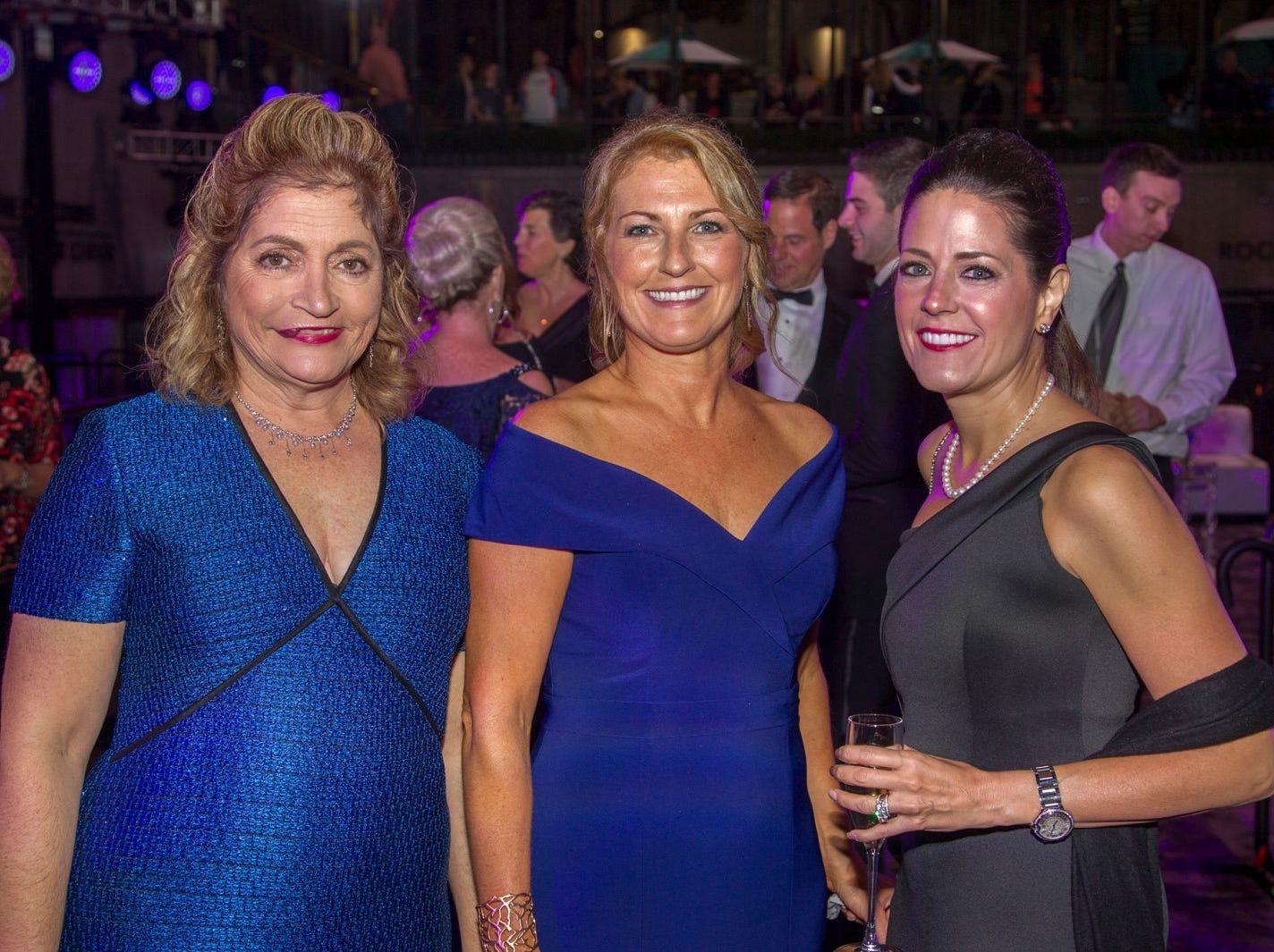 Laura Garrett, Colleen Sparta, Patrice Cahill. Hackensack University Medical Center Foundation held its 25th anniversary Recognition Gala at Rockefeller Center, NY. 10/06/2018