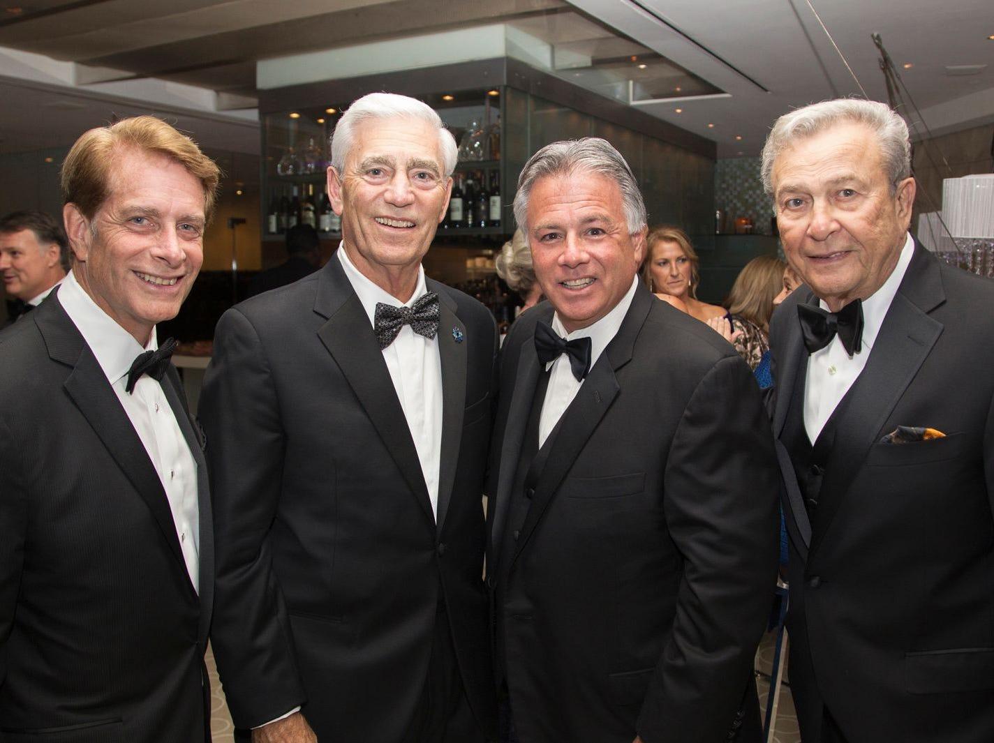 Bob Garrett, John Lloyd, Larry Inserra Jr, Joe Simunovich. Hackensack University Medical Center Foundation held its 25th anniversary Recognition Gala at Rockefeller Center, NY. 10/06/2018