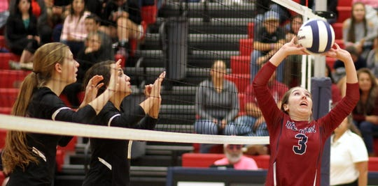 Sophomore Lady 'Cat setter Kamryn Zachek (3) is on-target when the passing game is consistent.