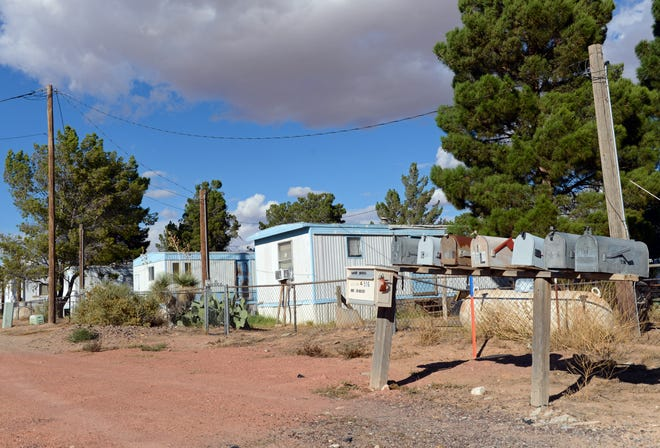 Mobile homes on McCombs Road in Chaparral.