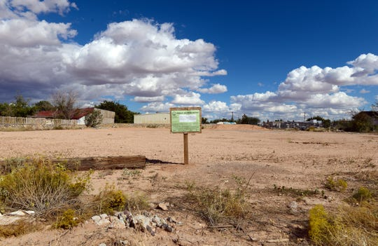 Oscar and Cesar Espino received approval from the county to erect a mobile home for their grandmother on this lot in Chaparral.