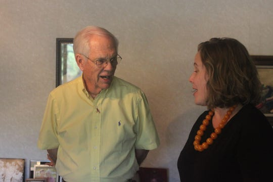 Mike Currier talks about his daughter Missi's struggles to find housing, Sept. 23 in Carlsbad.