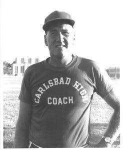 Head Coach Ralph Bowyer circa 1957.