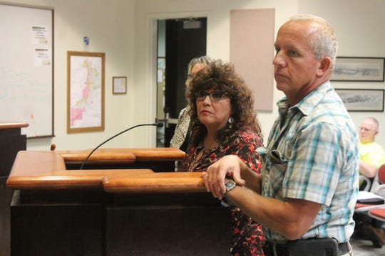 Approximately $75,000 of the reduced funds would be used to replace the lights in all the fields in Complex A with new light bulbs, while the old bulbs from that complex would be used to replace lights on other fields, said Community Services Director Ronnie Ortega, at the podium next to City Facilities Manager Paul Bennett.