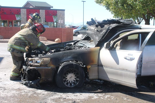 Drivers should get far away from a burning vehicle because tires and engine components will explode, said AFD Deputy Chief Jerry Ramirez.