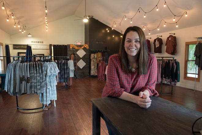 Nikki LaValee Mattison, who owns Madison Boutique in Plymouth, feels at home in her new, second location on Grand River Avenue, in New Hudson.
