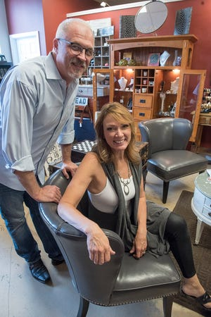 Kelly and Jack Reutter, owners of Co Reutter salon sell more than hair care products and services. A portion of the salon houses North 72 Boutique and the other half, dubbed The Menagerie, sells items made by local artists.
