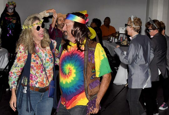 Hippies passing a good time at the Boogie Ball