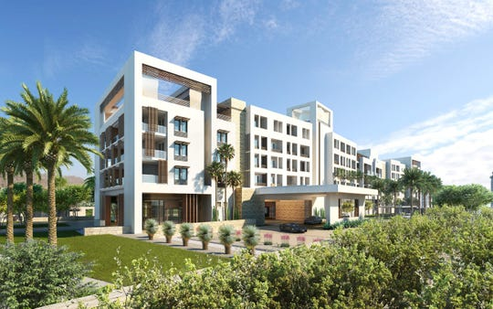 Rendering of the Indian Wells hotel and condo project by TMC Group.