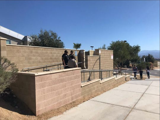 Cabot Yerxa Elementary School in Desert Hot Springs. It was briefly locked down Wednesday, October 10, 2018.