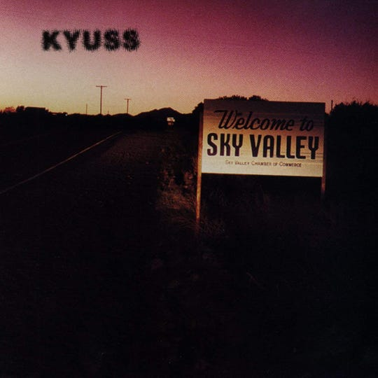 "Kyuss' ""Welcome to Sky Valley"" album cover"