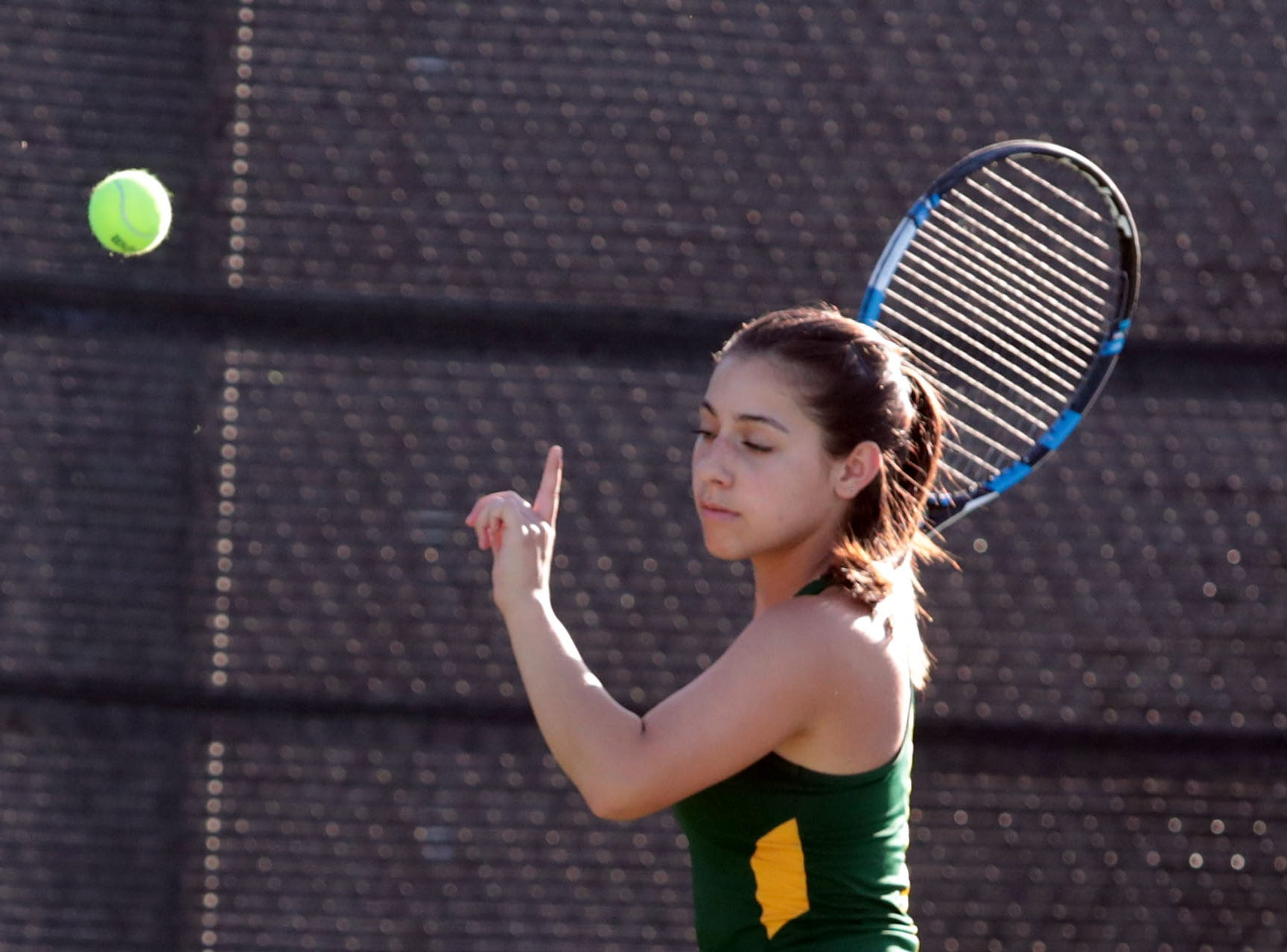 Coachella Valley girls tennis took on Desert Mirage on Tuesday, October 9, 2018 at PGA West in La Quinta.