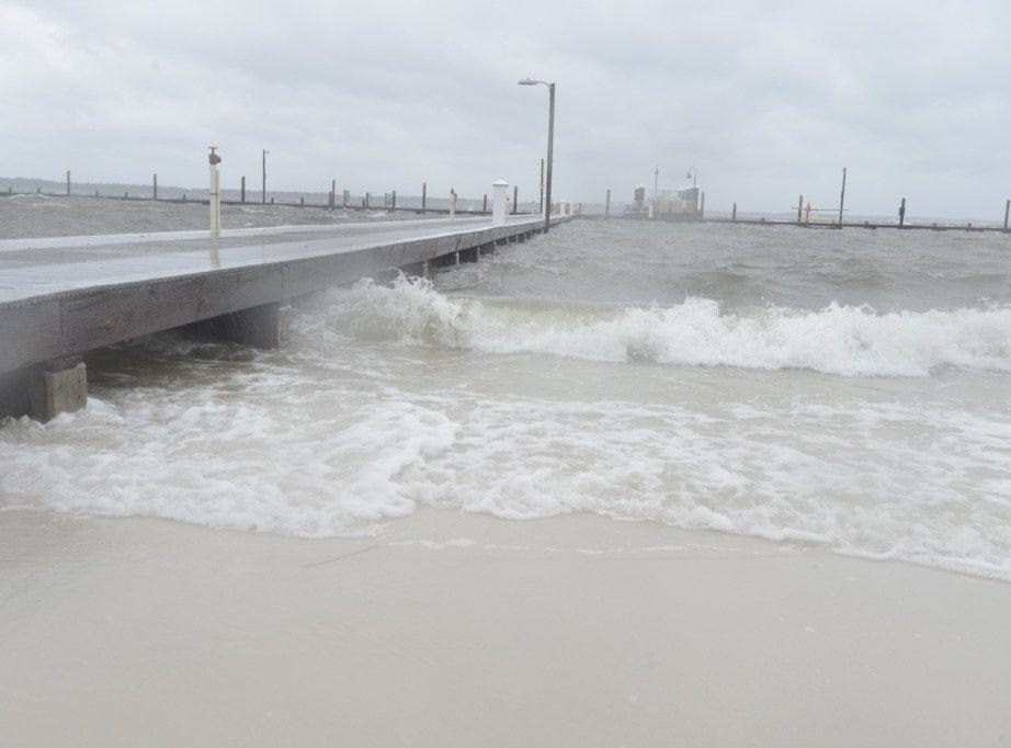 Conditions at Quietwater Beach as Hurricane Michael approaches on Wednesday, Oct. 10, 2018.