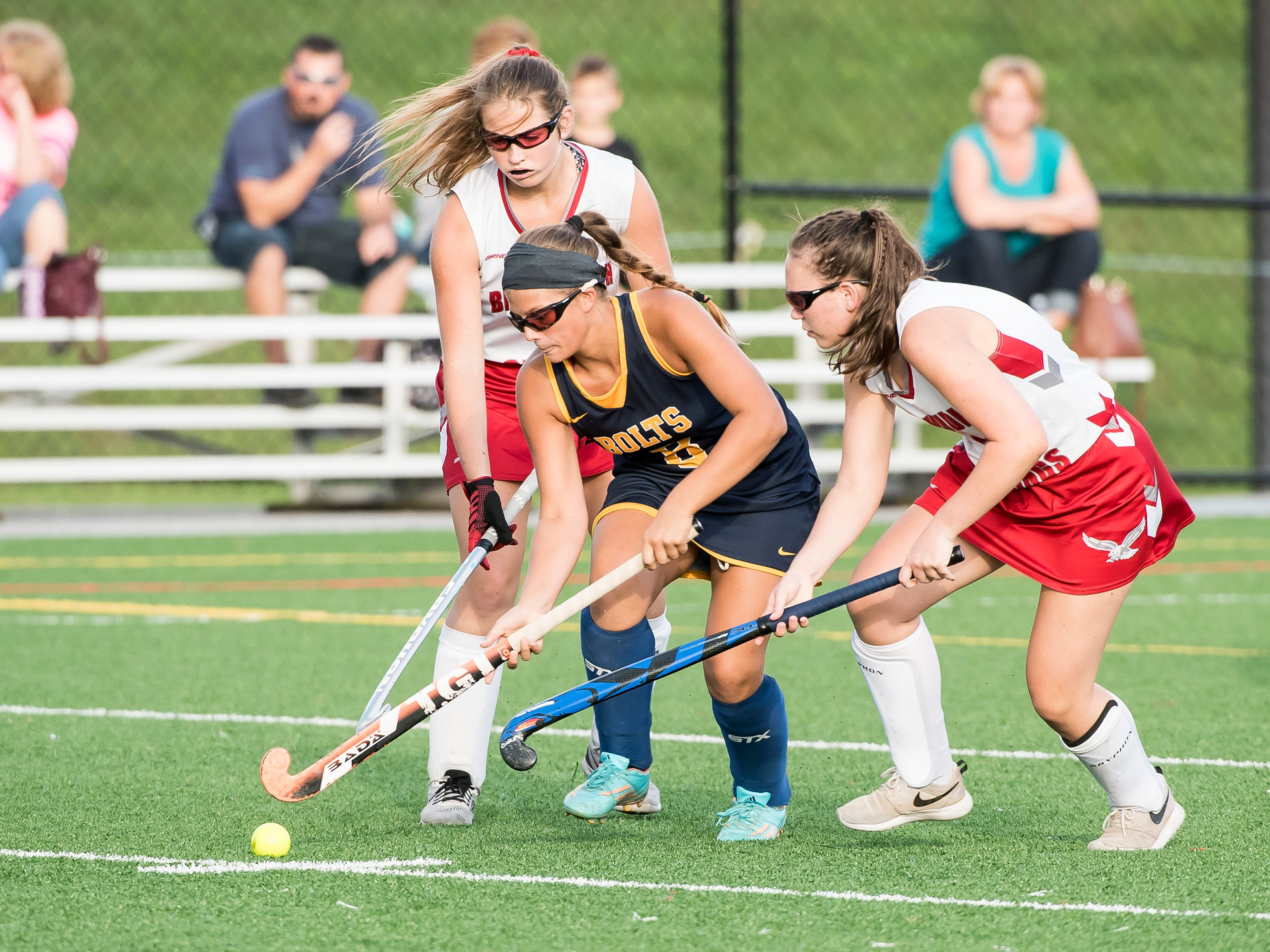 Action during a field hockey game between Bermudian Springs and Littlestown on Tuesday, October 9, 2018. The Eagles won 4-0.