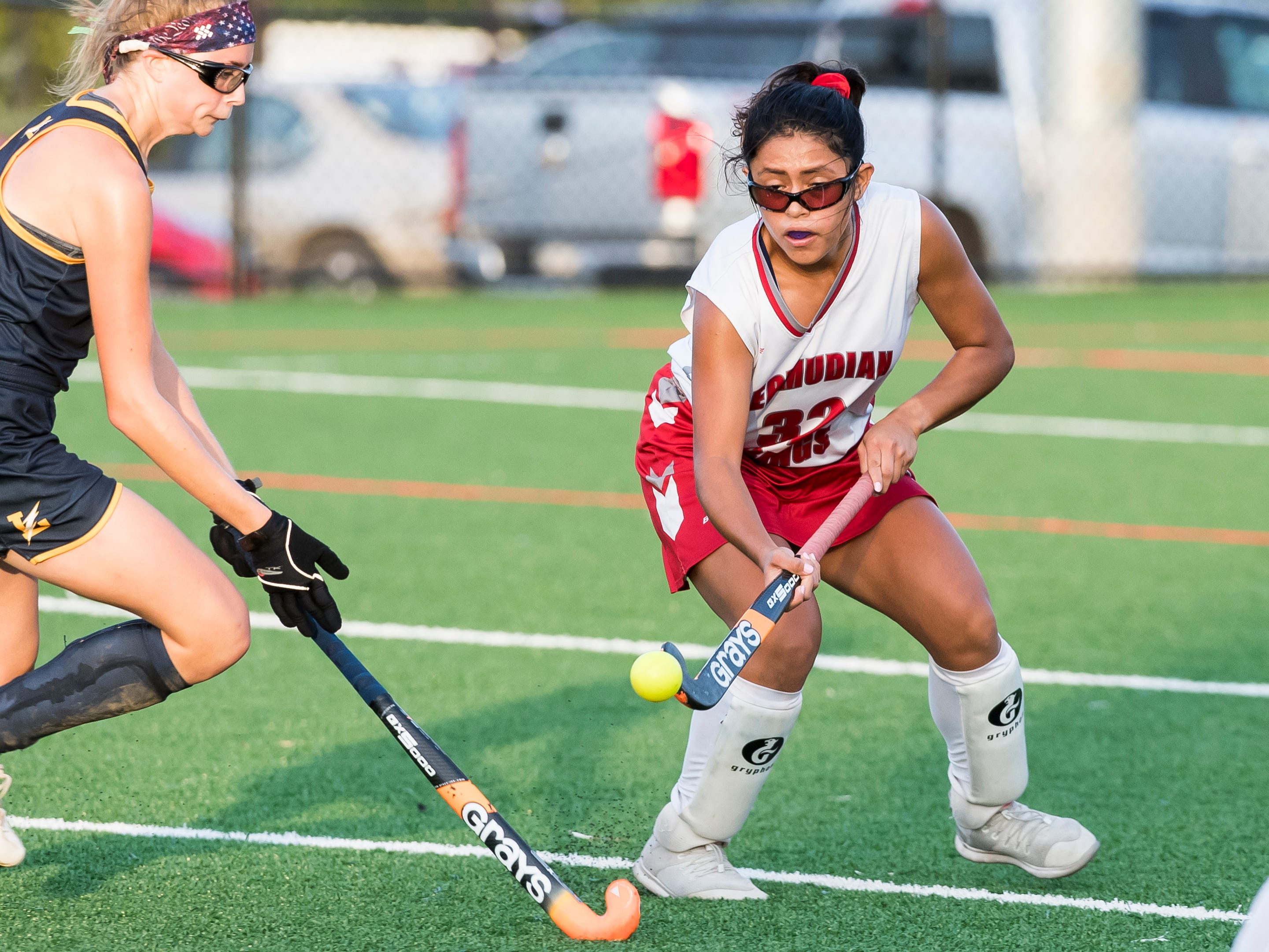 Bermudian Springs' Cecilia Lua controls the ball during play against Littlestown on Tuesday, October 9, 2018. The Eagles won 4-0.