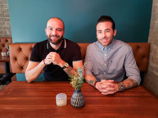 Clever Koi owners Joshua James (left) and Nick Campisano open Across the Pond cocktail and sushi bar in Phoenix.