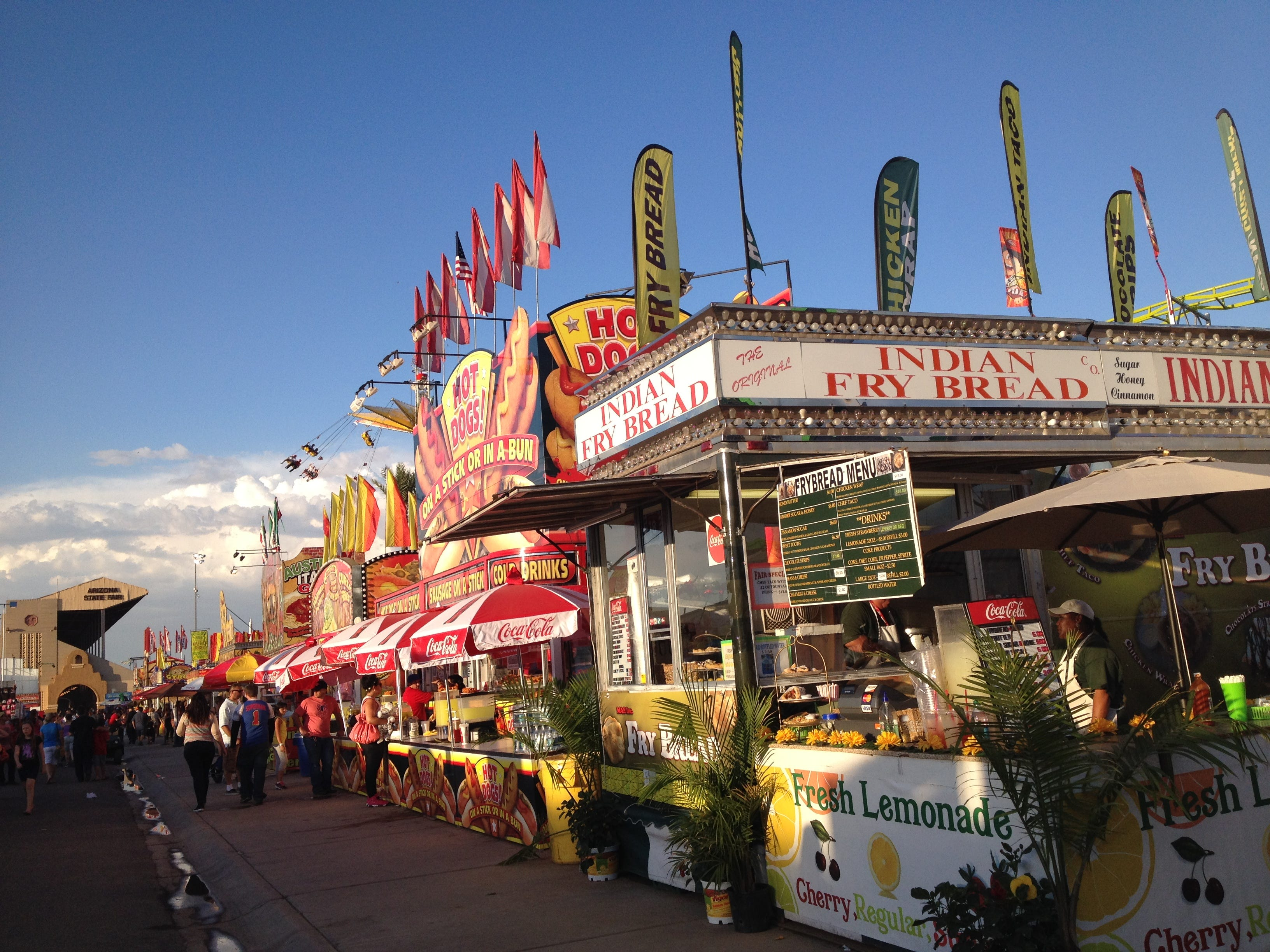 State Fair strategy: If it moves, ride it; if it's on a stick, eat it
